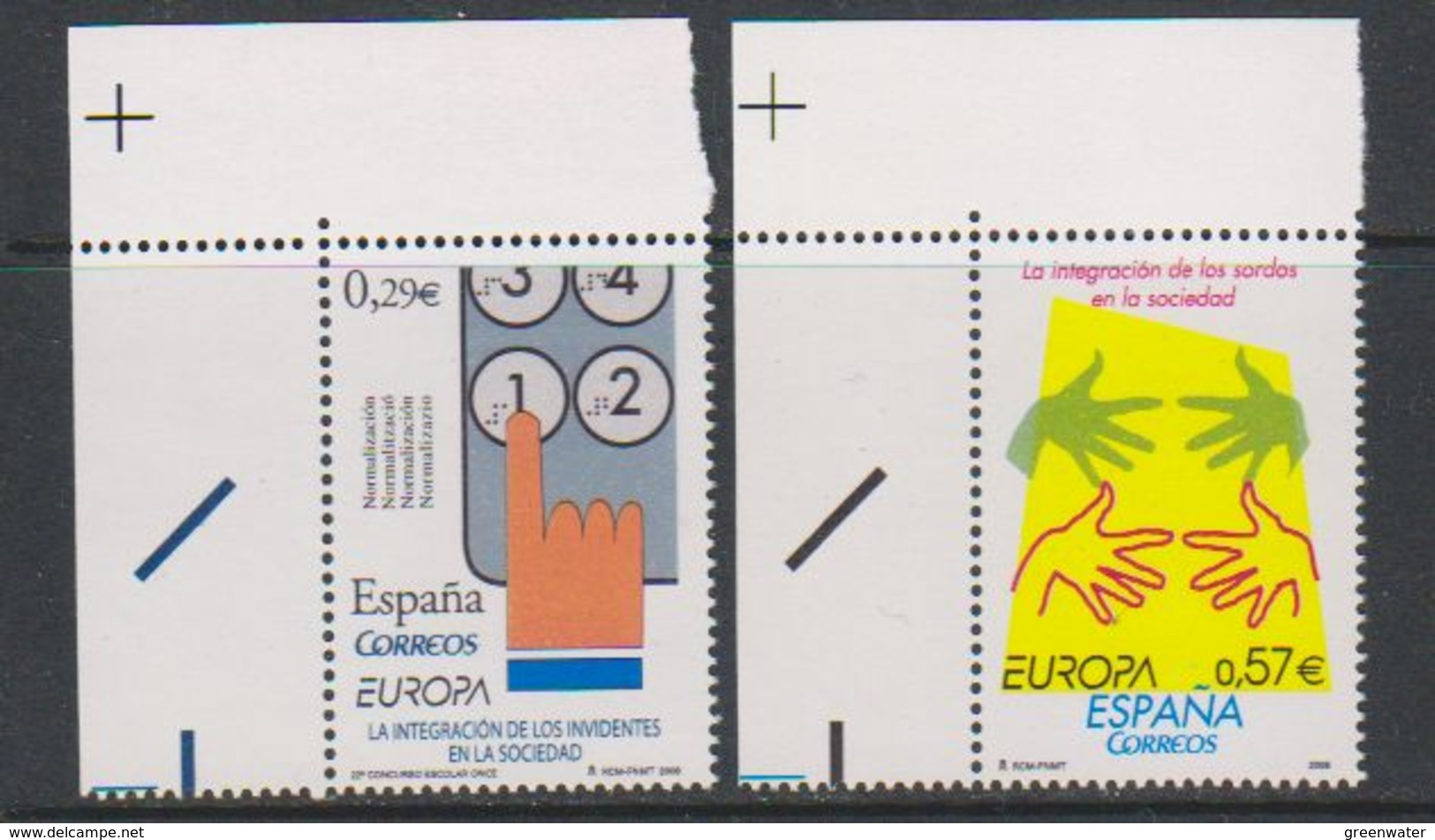 Europa Cept 2006 Spain 2v (corner) ** Mnh (39233B) - Europa-CEPT