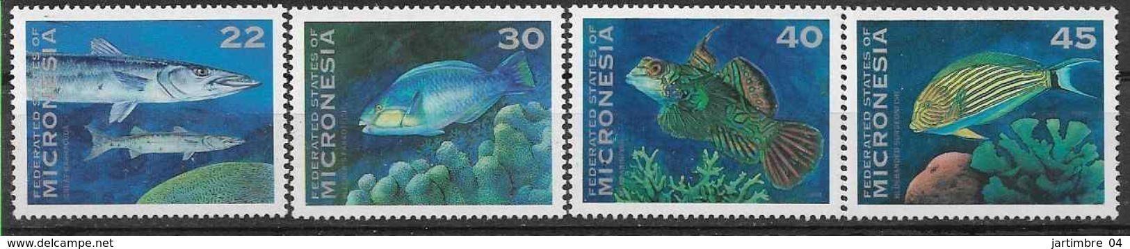 1993 MICRONESIE 246-49** Poissons - Micronésie