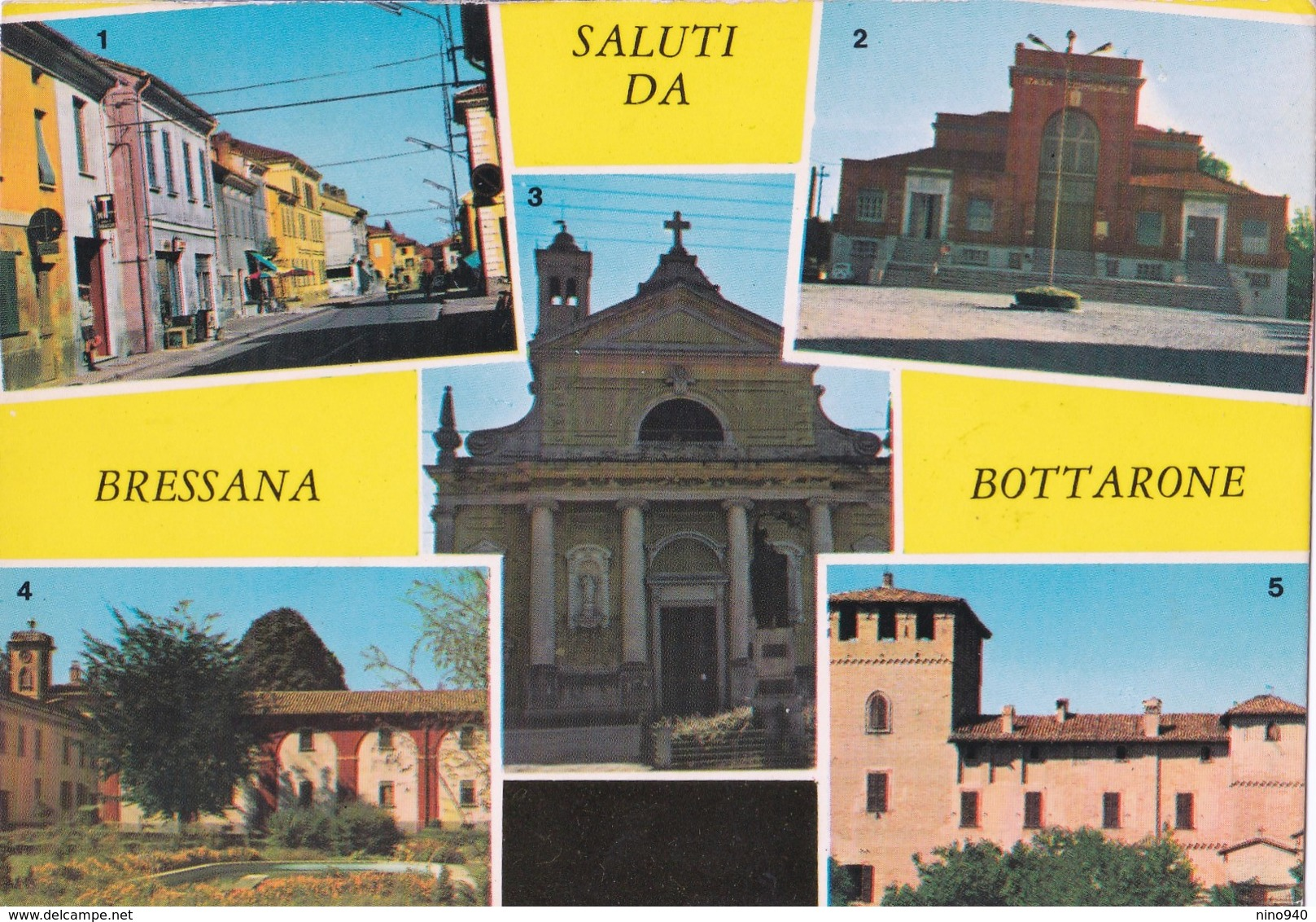 SALUTI DA BRESSANA BOTTARONE (PV) - VEDUTINE - F/G - V: 1969 - Italie