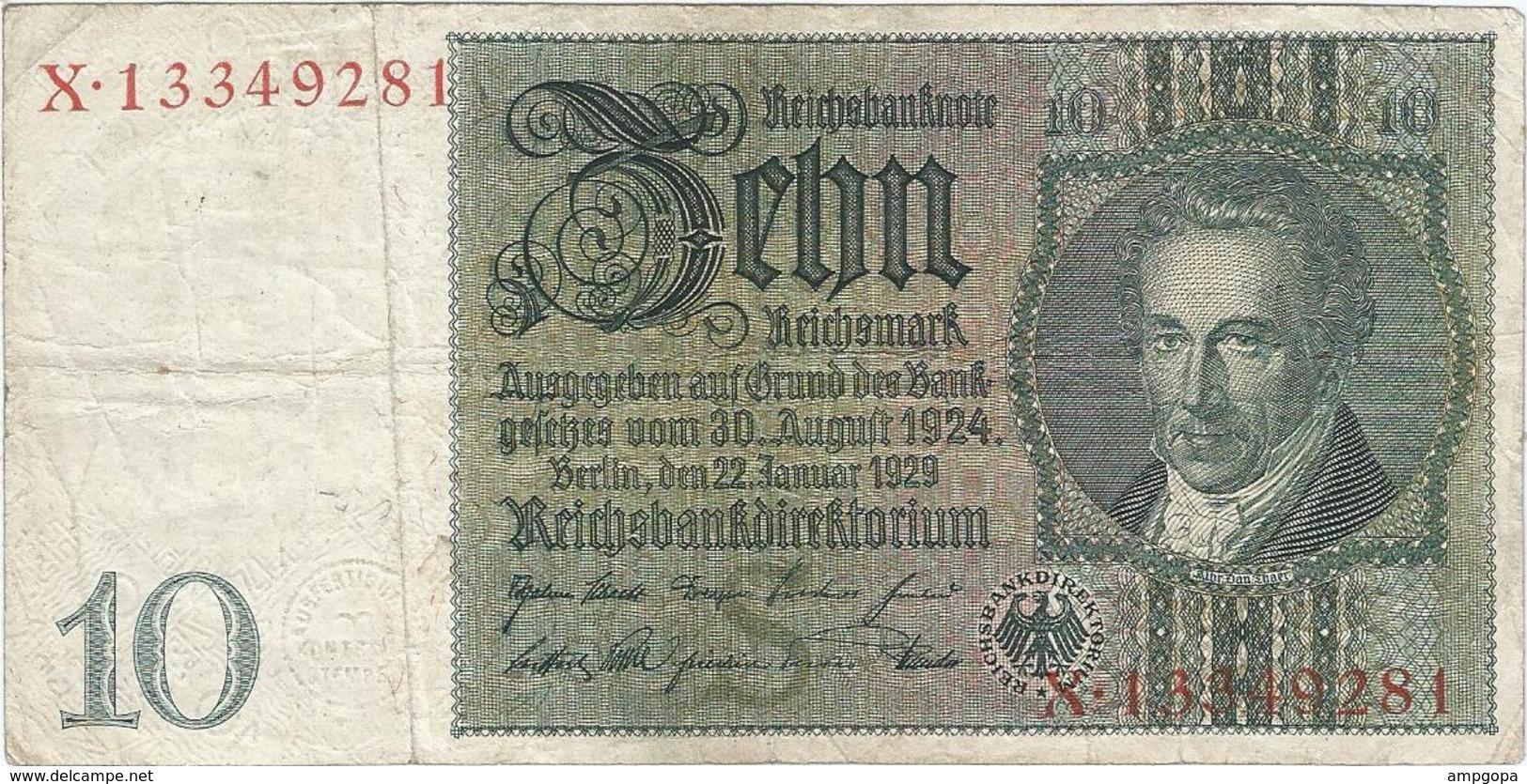 Bélgica (ocupación Alemana) - Belgium 10 Reichsmark 1945 Sello Eupen RARO Ref 800-2 - [ 3] Occupazioni Tedesche Del Belgio