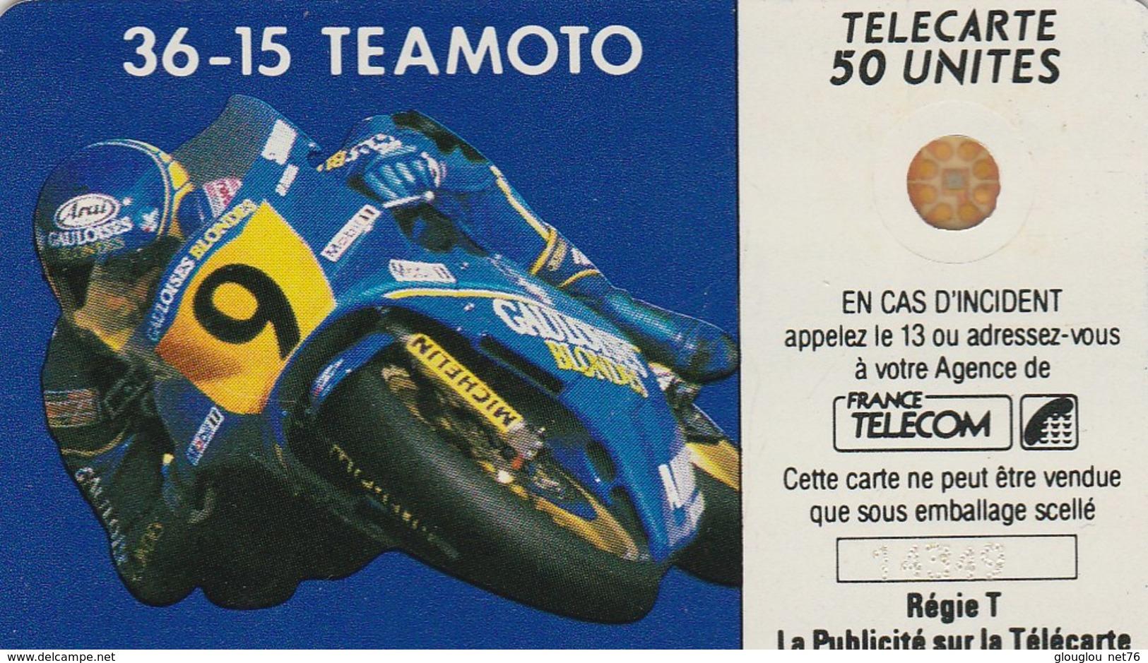 TELECARTE 50   ..36-15  TEAMOTO - Francia