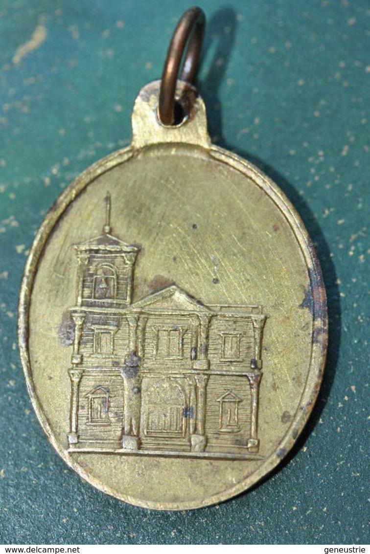 "Pendentif Médaille Religieuse Bronze XIXe ""Saint Antoine De Sorrento""  Religious Medal - Religione & Esoterismo"