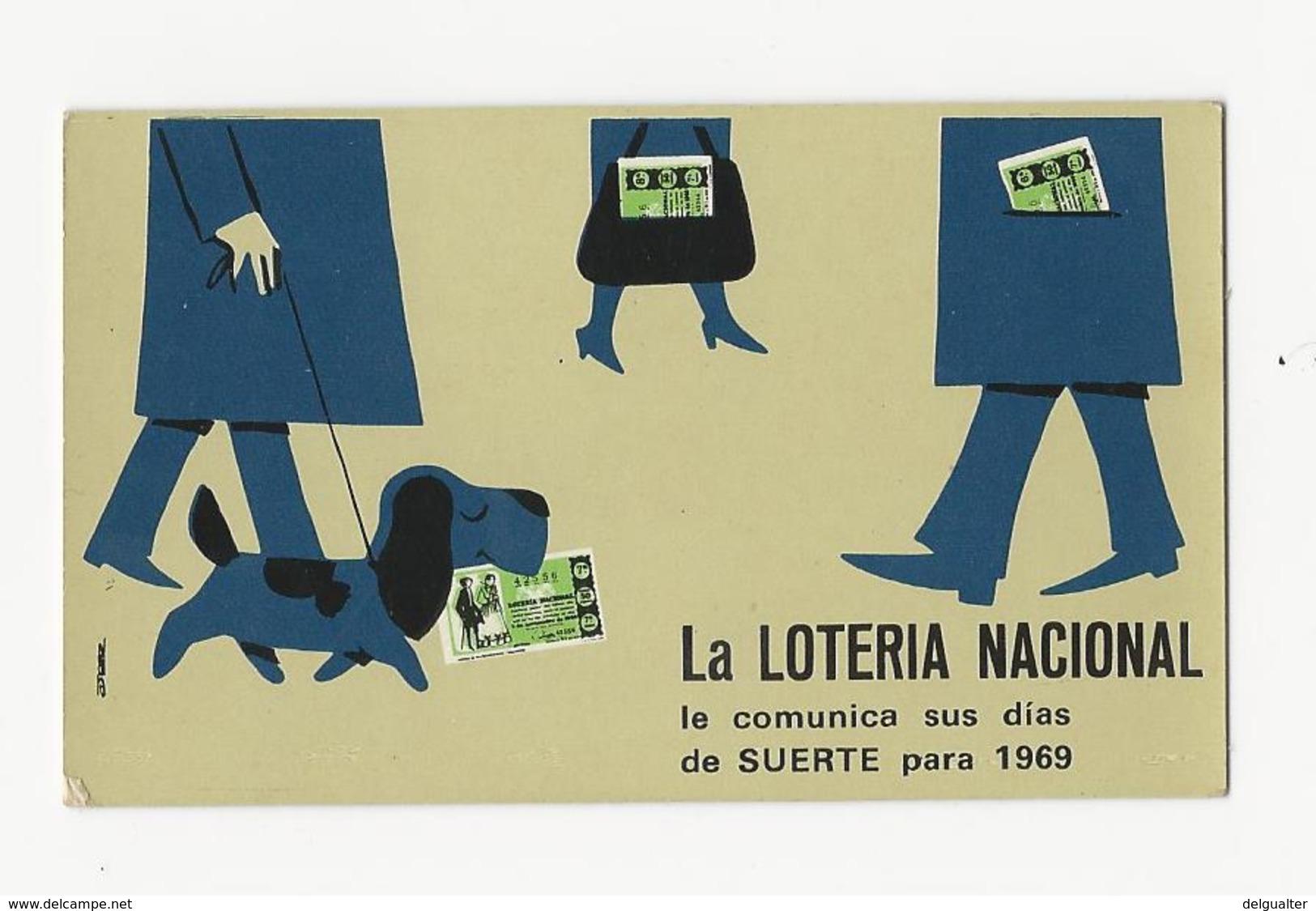 Calendar * Spain * 1969 * La Loteria Nacional - Calendriers