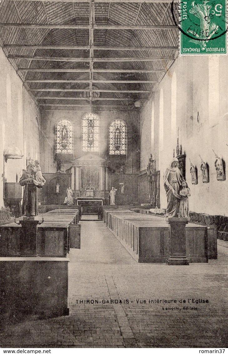 THIRON GARDAIS - Vue Intérieure De L'Eglise - Autres Communes