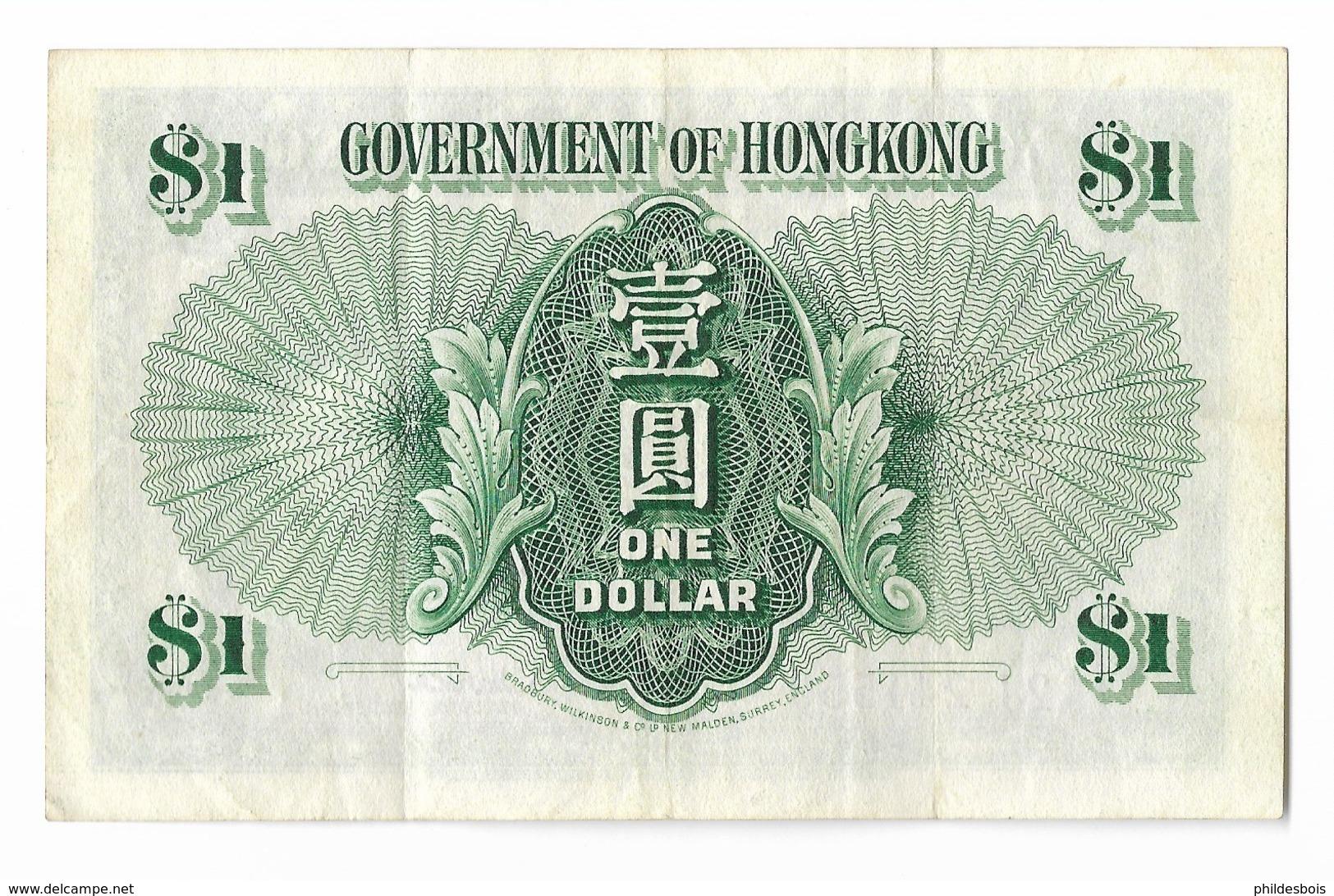 BILLET HONG KONG GOVERNMENT OF HONG KONG One Dollar - Hong Kong