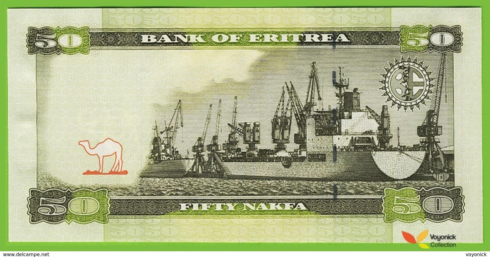 Voyo ERITREA 50 Nakfa 2011(2012) P9 B109a AK UNC Harbour - Erythrée