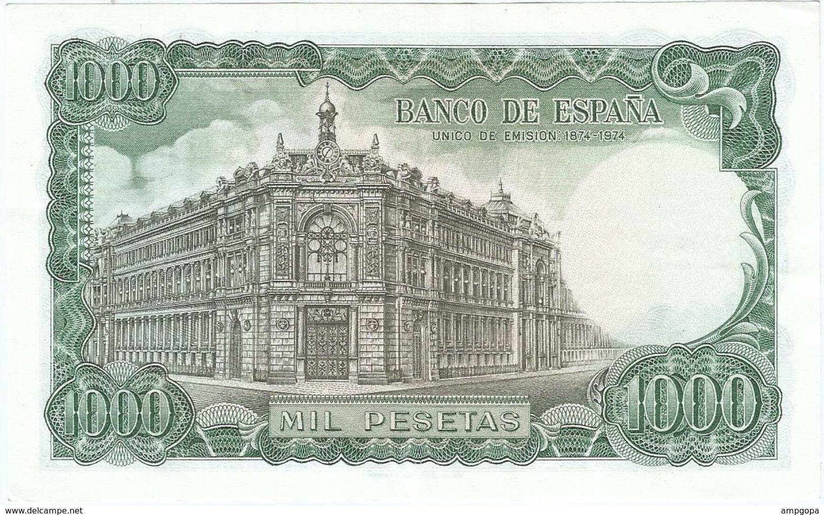 España - Spain 1.000 Pesetas 17-9-1971 Pick 154 SERIE U Ref 834-3 - [ 3] 1936-1975: Regime Van Franco