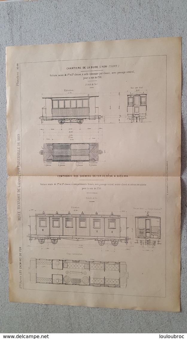 RARE REVUE TECHNIQUE DE L'EXPOSITION UNIVERSELLE DE 1889 LES CHEMINS DE FER  LA BUIRE  FORMAT  54.50 X 36 CM - Machines