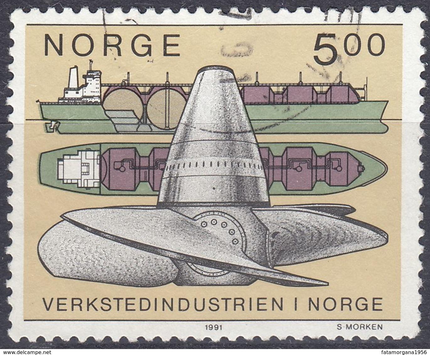 NORGE - 1991 - Yvert 1018, Usato, Come Da Immagine. - Gebraucht