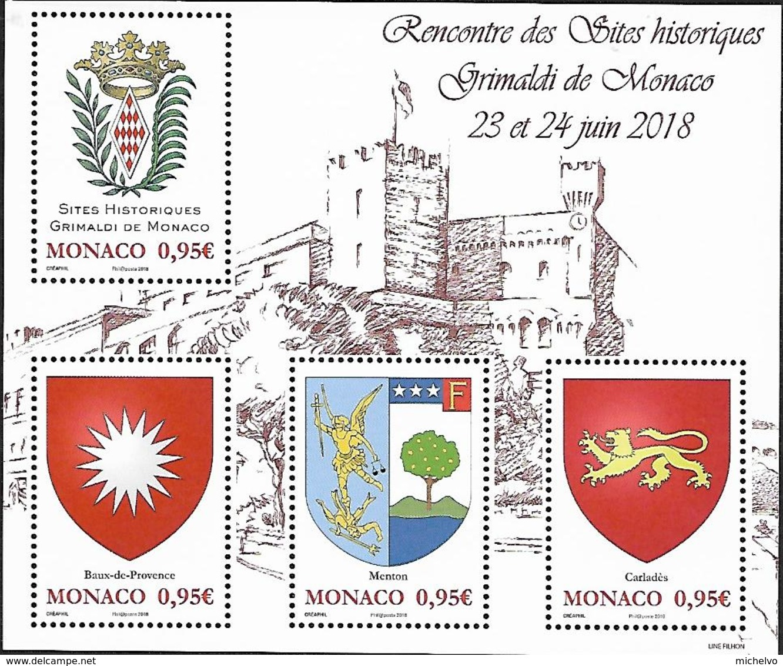 "Monaco 2018 - Yv N° F3146 ** - Bloc ""Sites Historiques Grimaldi De Monaco"" (timbres 3146 à 3149) - Monaco"