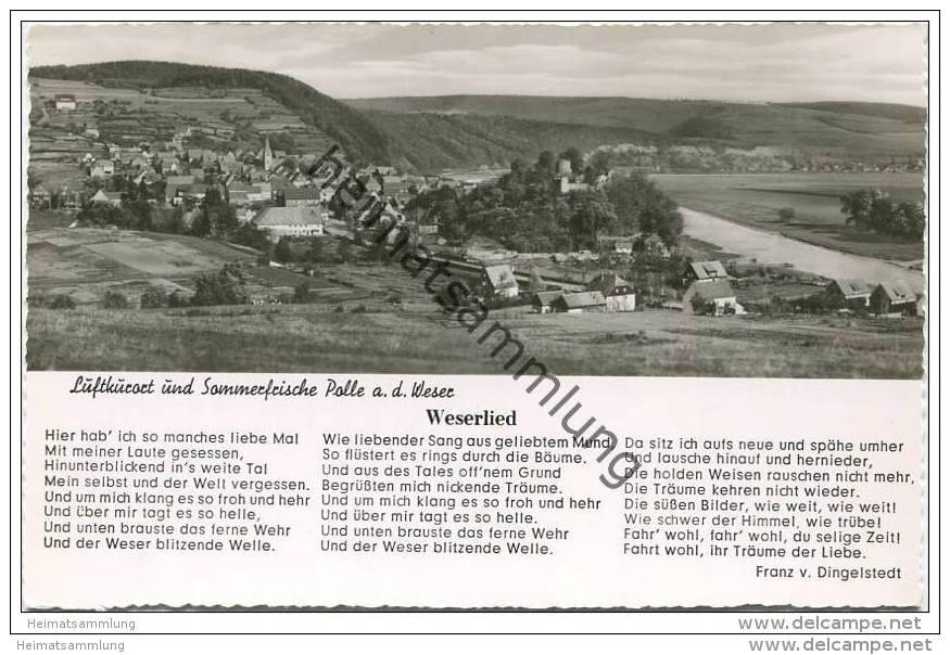 Polle - Weserlied - Foto-AK 50er Jahre - Allemagne