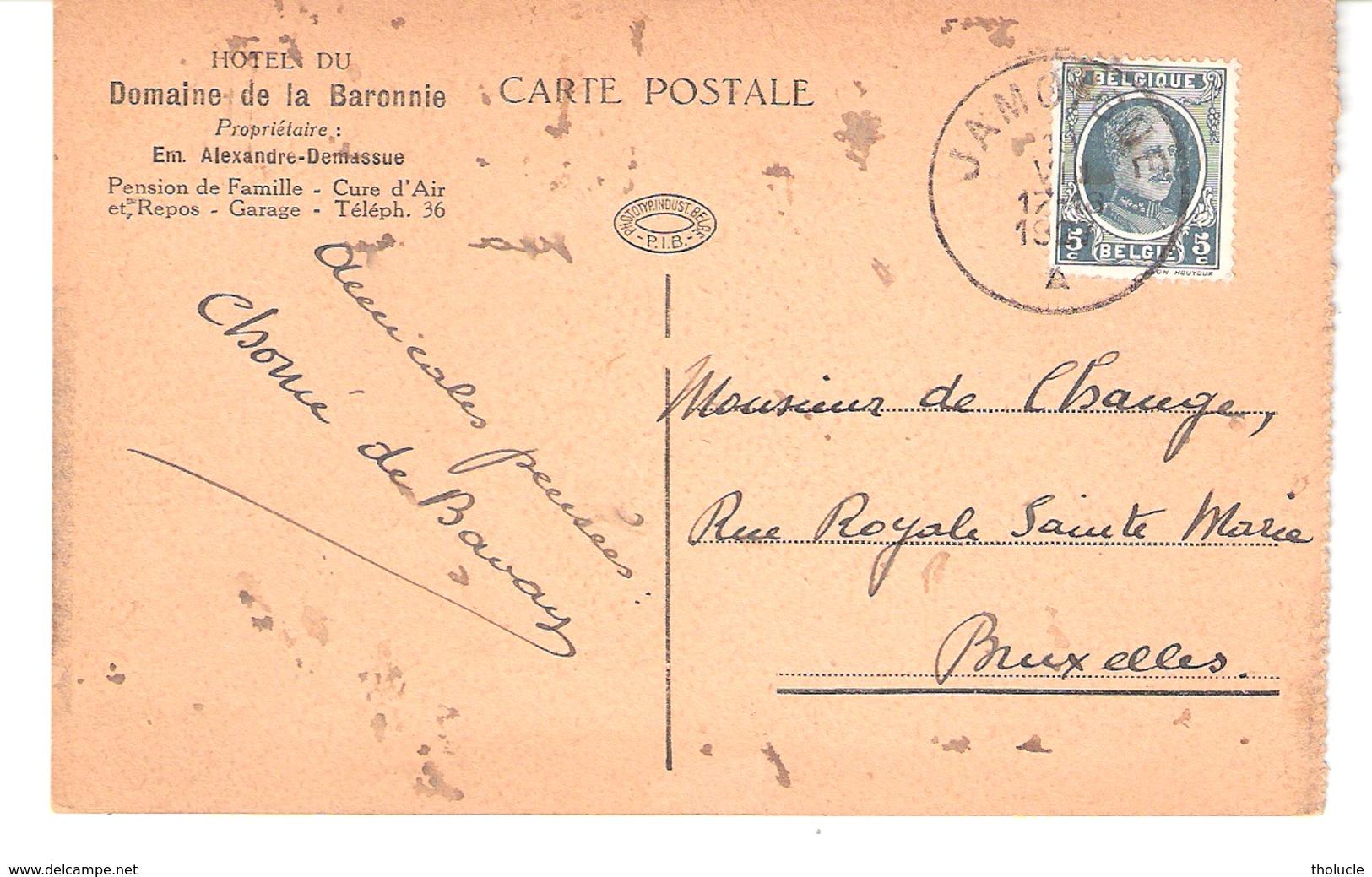 Jamoigne (Chiny-Semois)-1927-Château (du Faing) Des Soeurs Françaises-Edit. Hôtel Du Domaine De La Baronnie (voir Scan) - Chiny