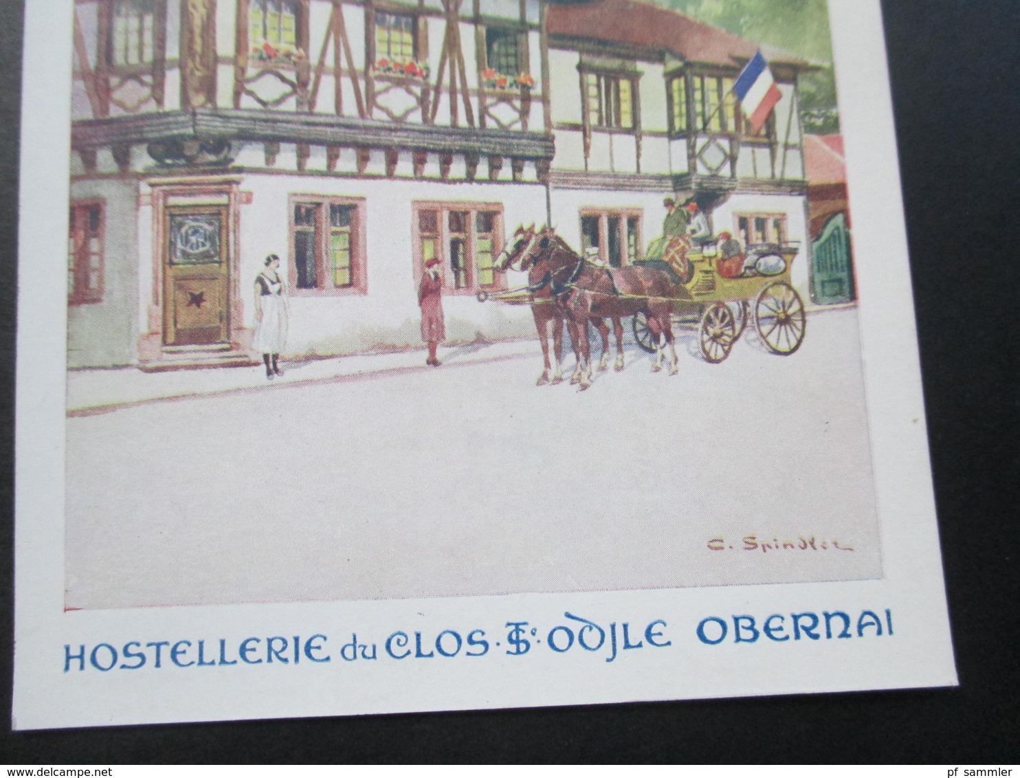 AK Künstlerkarte Hostellerie Du Clos Ste Odile Obernai. Pferdekutsche. Imp. Camis Paris - Hotels & Gaststätten