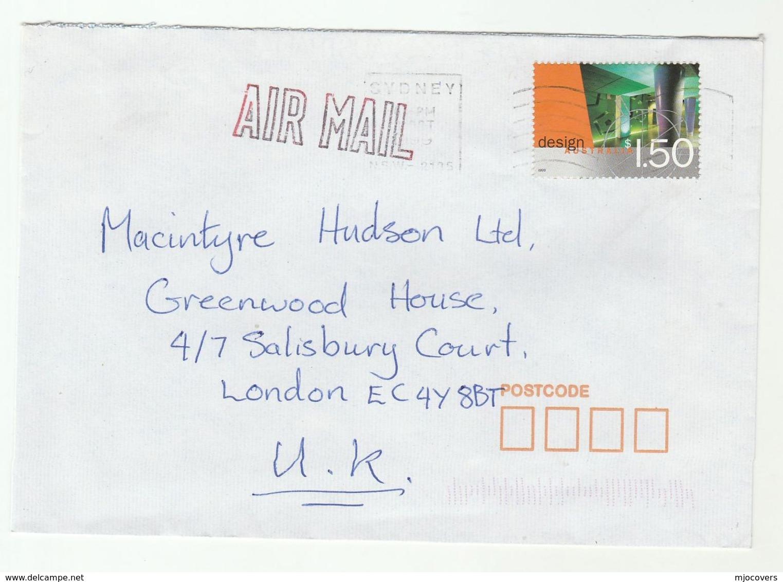 1999 Air Mail AUSTRALIA COVER  Stamps $1.50 DESIGN To GB - 1990-99 Elizabeth II