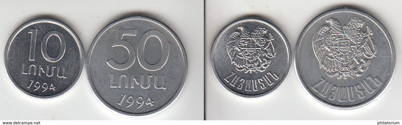Arménie 10 Luma + 50  Luma  1994 - Arménie