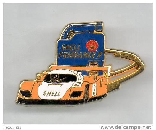 PINS PIN'S AUTO PORSCHE  AUTOMOBILE LE MANS SHELL ARTHUS BERTRAND - Porsche