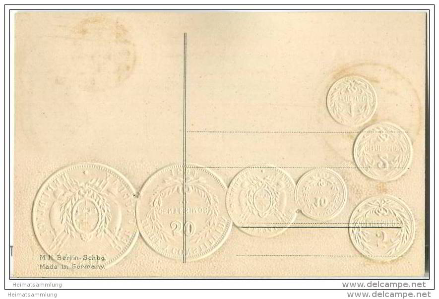 Münzkarte - Nationalflagge - Uruguay - Prägedruck - Monnaies (représentations)