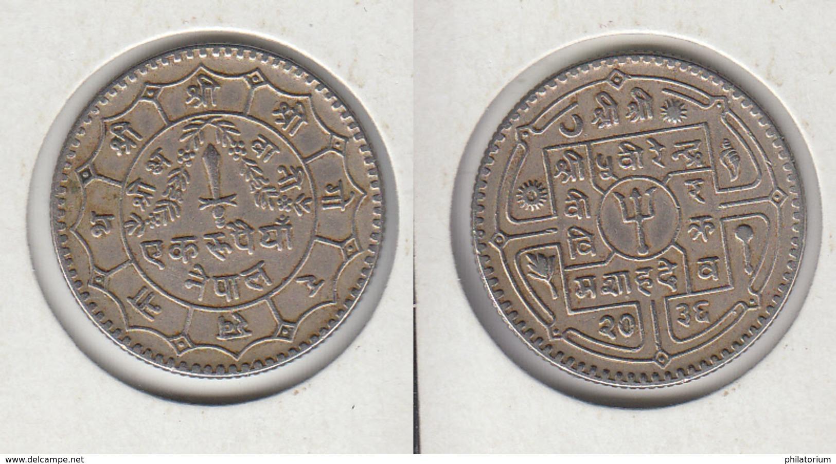 NEPAL 1 Roupie 2036 - 1979 1 Ruppee - Népal