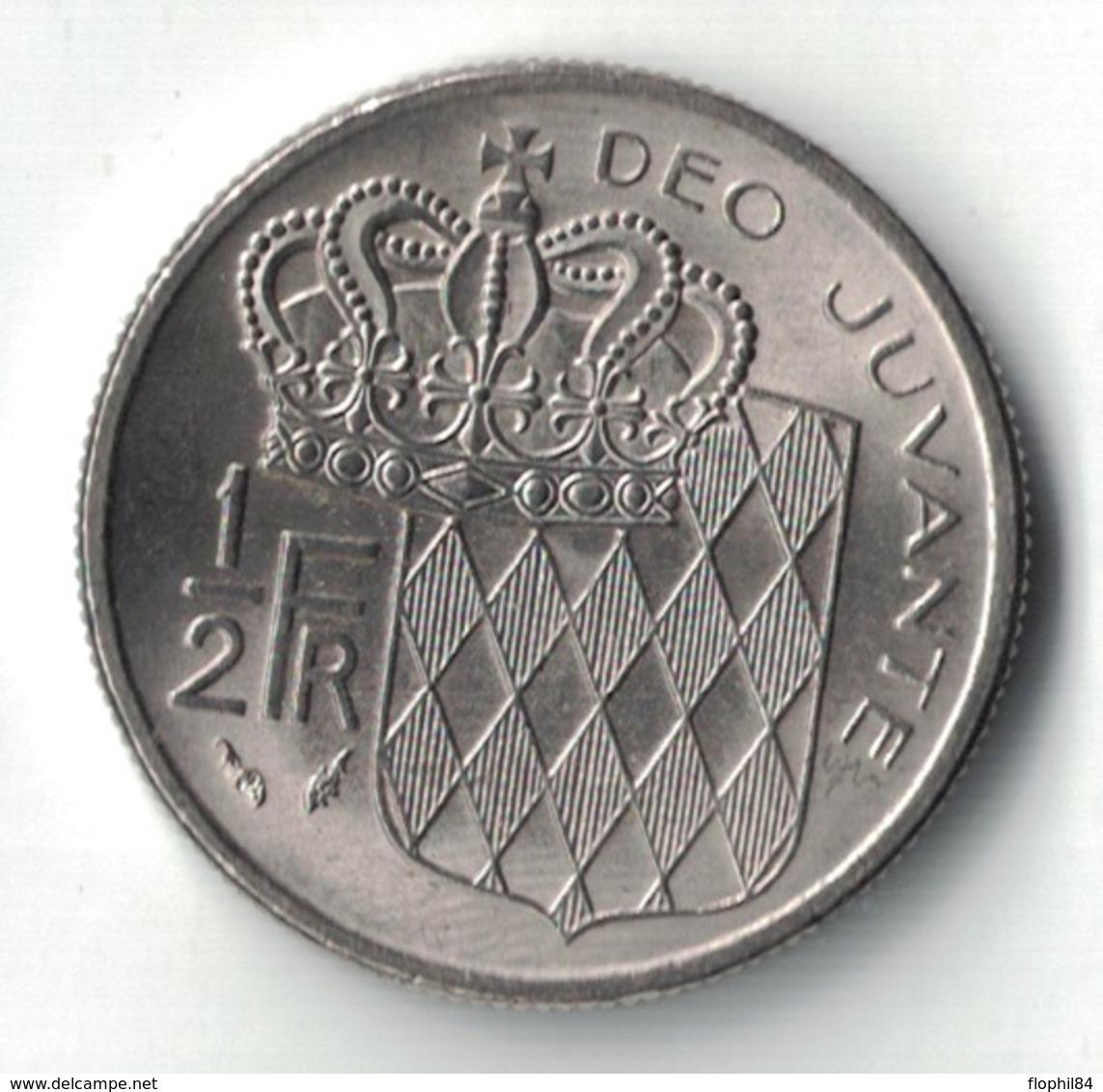 MONACO - 1/2 FRANC DE 1982. - 1960-2001 Nouveaux Francs