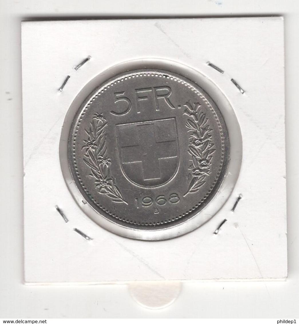 Suisse. 5 FS 1968 B. Pièce En Cu/Ni 13,20 Gr. Diam 31,45 Mm. SUPERBE - Suisse