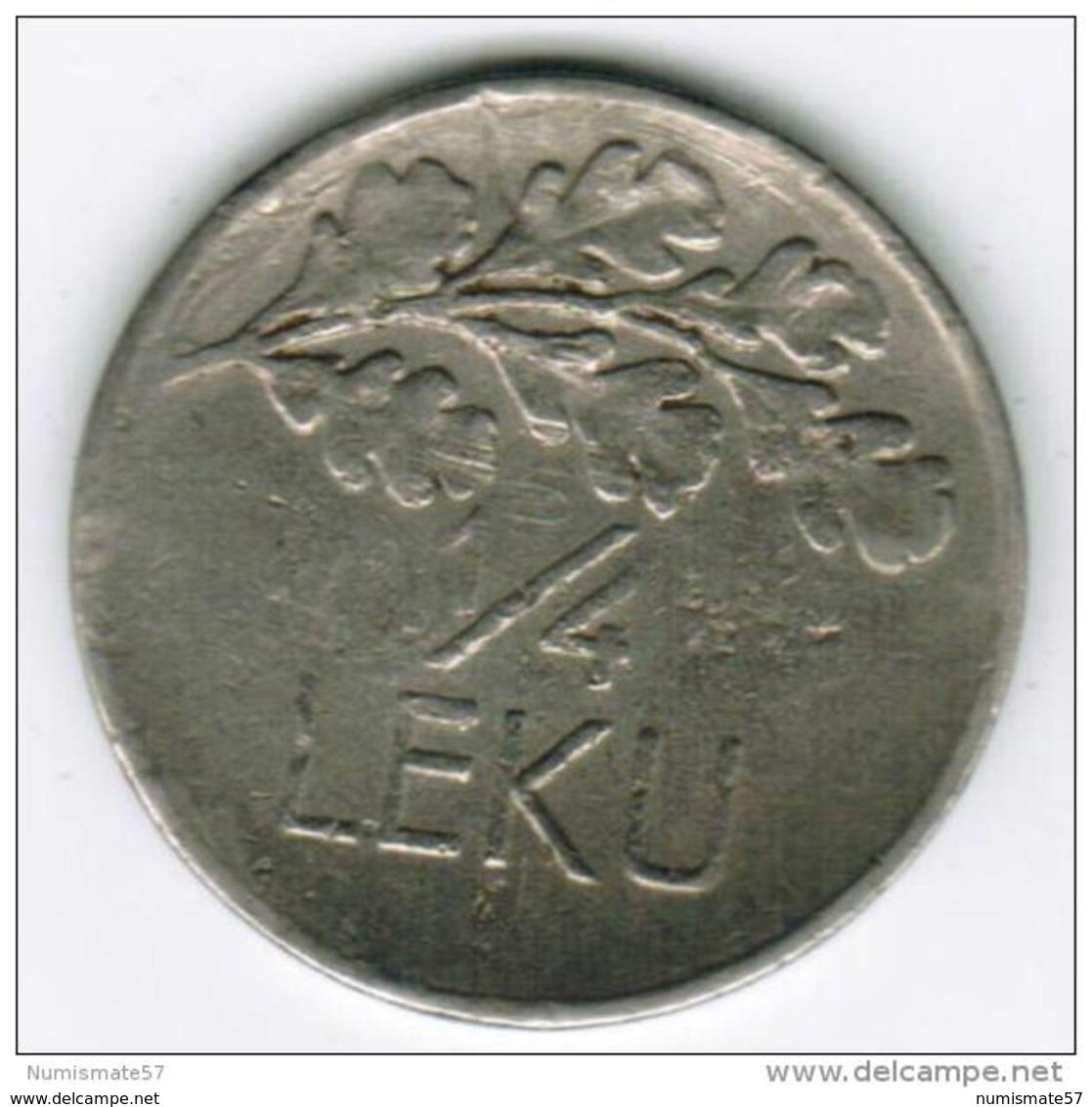 ALBANIE - 1/4 LEKU 1927 - Lion - Albanie
