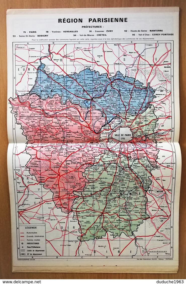 Calendrier La Poste - Almanach : Paris Région Parisienne 1979. Plan Paris,SNCF,métro - Calendriers