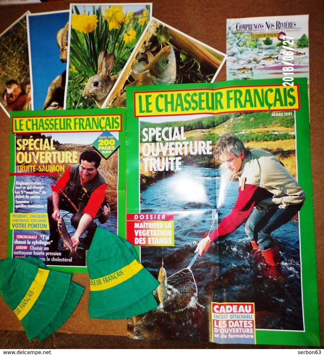 LE CHASSEUR FRANCAIS LOT DE 10 ARTICLES BOB AFFICHE AFFICHETTES PHOTOS DEPLIANT - NOTRE SITE Serbon63 - Casquettes & Bobs
