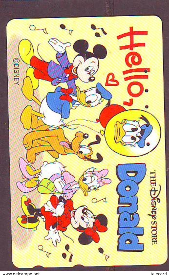 Télécarte Japon * 110-178262 * THE DISNEY STORE  (6402) MICKEY & MINNIE DONALD PLUTO JAPAN Phonecard  * TIRAGE 4.000 - Disney