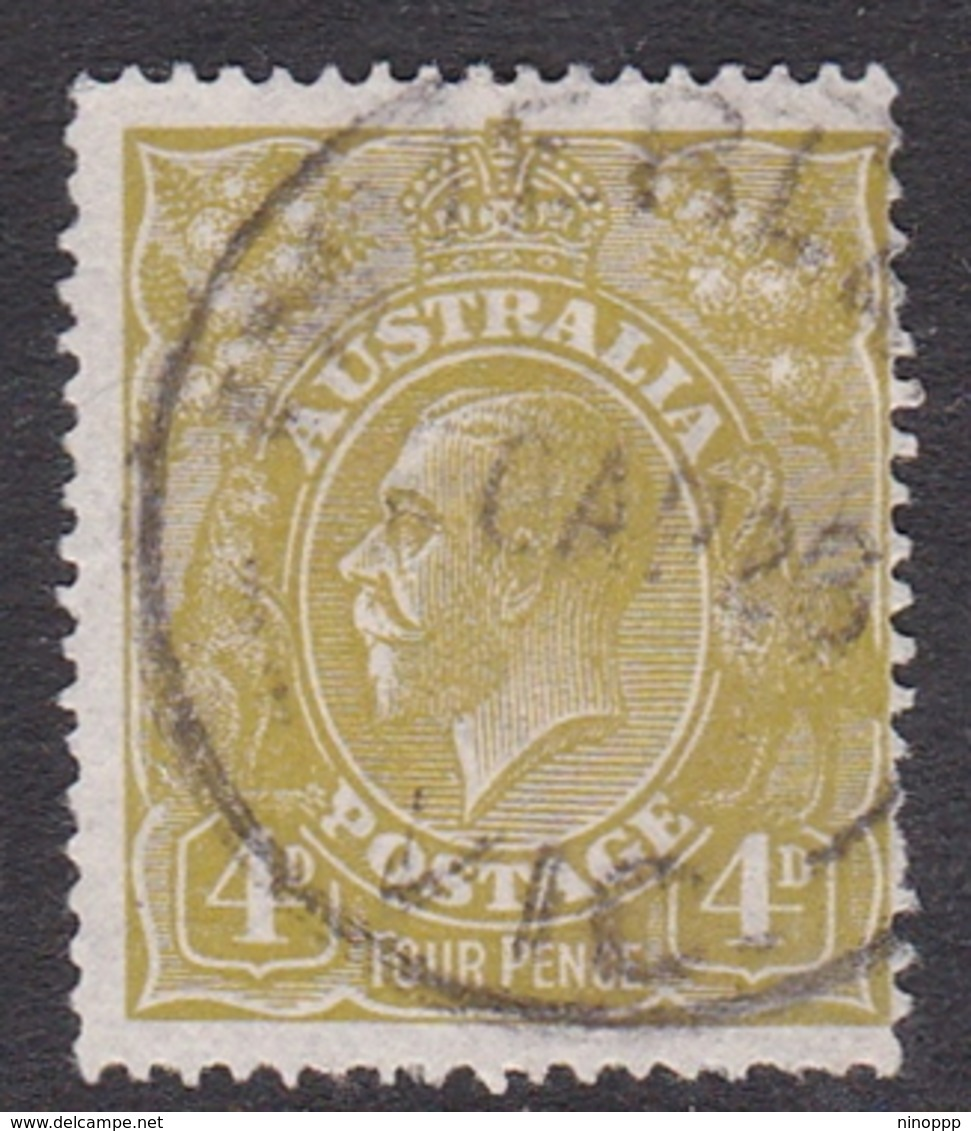 Australia SG 80 1924 King George V,4d Olive-yellow Green,watermark, Used - 1913-36 George V: Heads