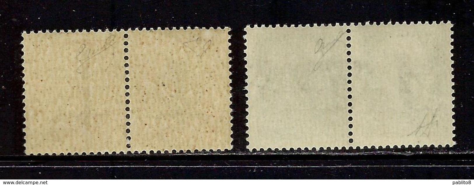 ITALIA REGNO ITALY 1944 VARIETÀ SAGGI REPUBBLICA SOCIALE ITALIANA RSI CENT. 20+20 & 25+25  MNH SAGGIO PROVA CERTIFICATO - 4. 1944-45 Repubblica Sociale