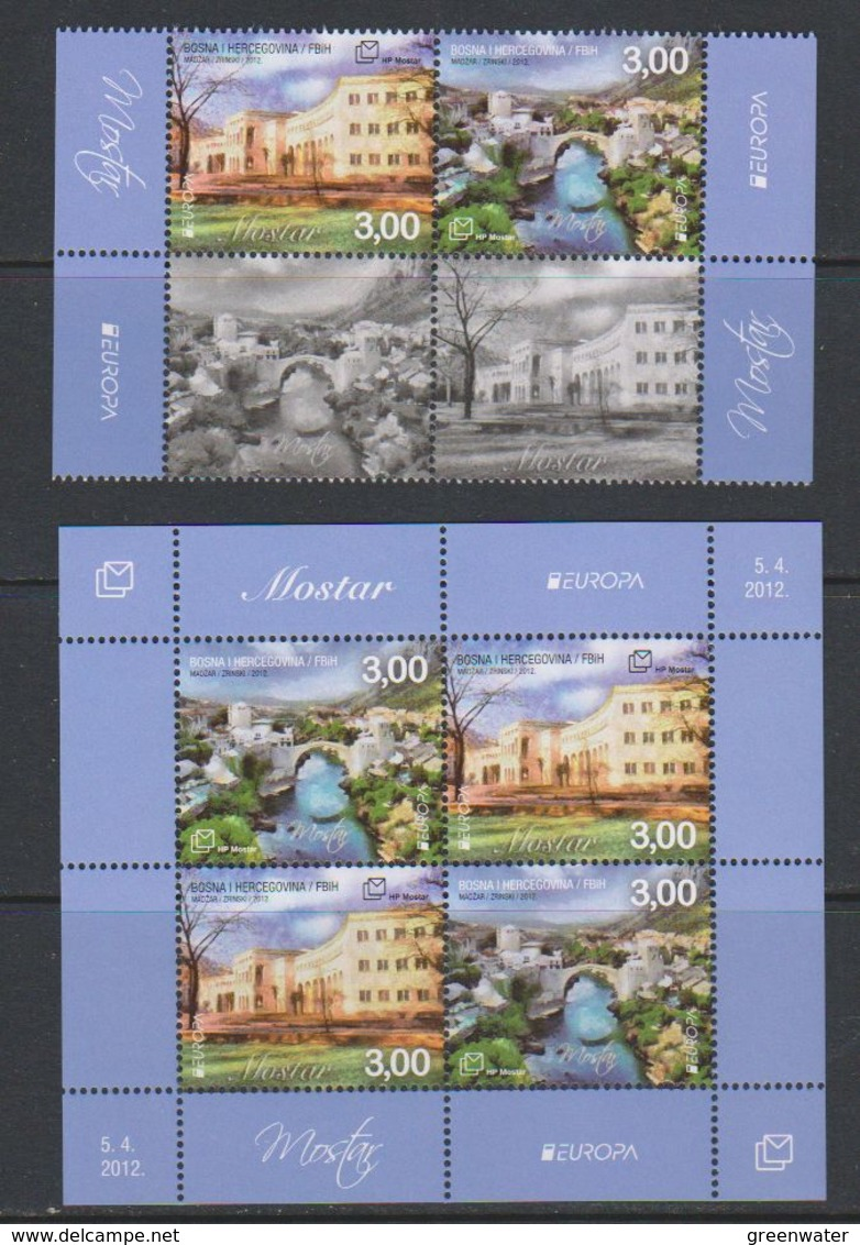 Europa Cept 2012 Bosnia/Herzegovina Mostar 4v + M/s ** Mnh (39274) - Europa-CEPT
