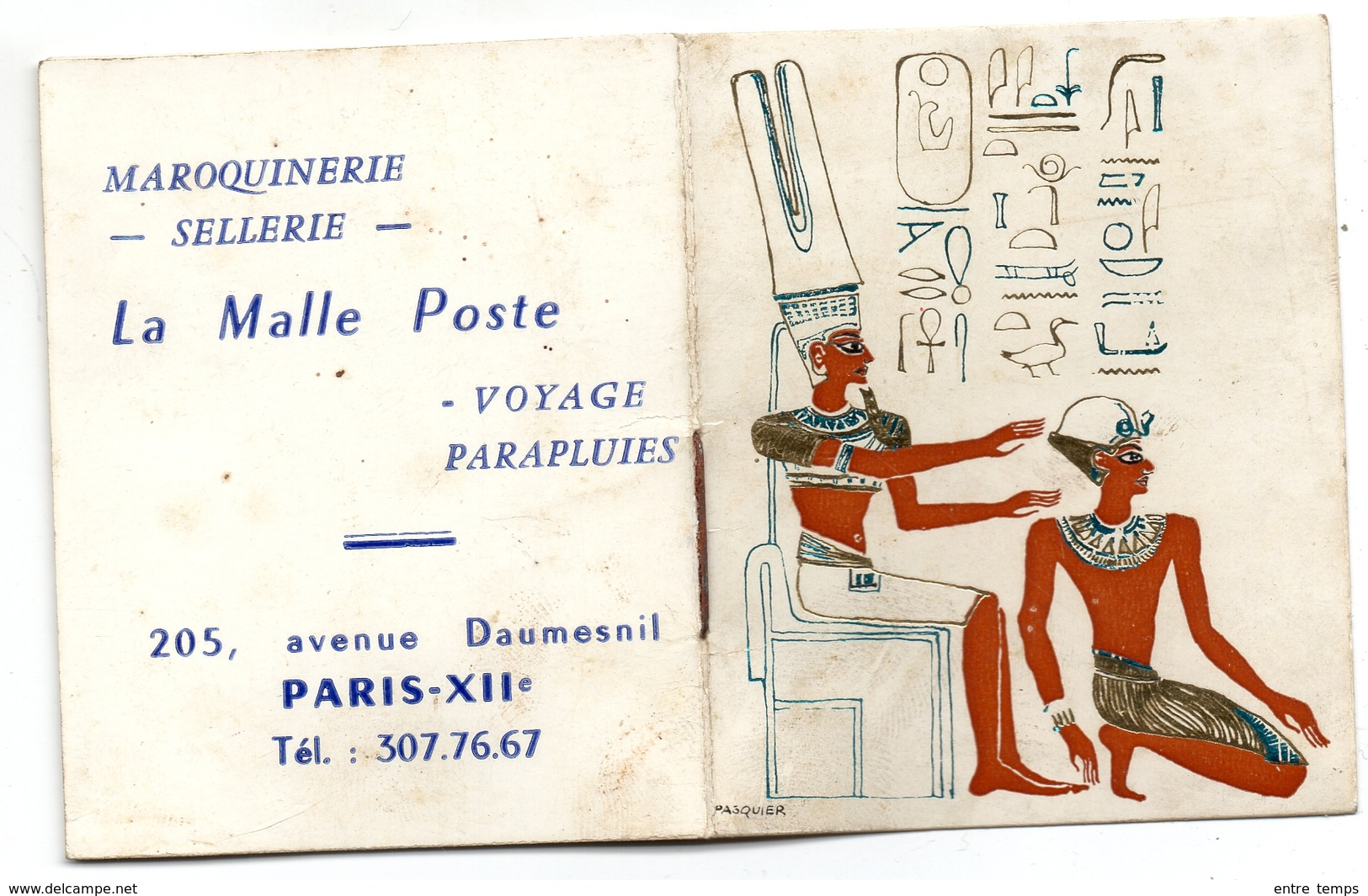Calendrier Poche Paris 12 ème La Malle Poste Maroquinerie Avenue Daumesnil - Calendriers