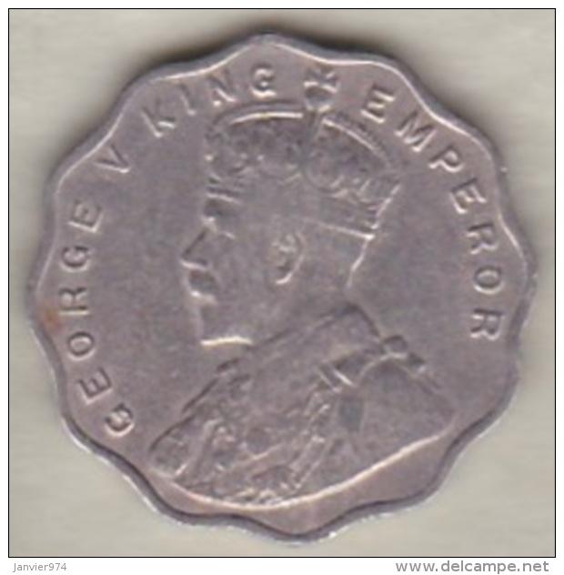 Inde  1 Anna 1917 , George V . Copper-Nickel. KM# 513 - Inde