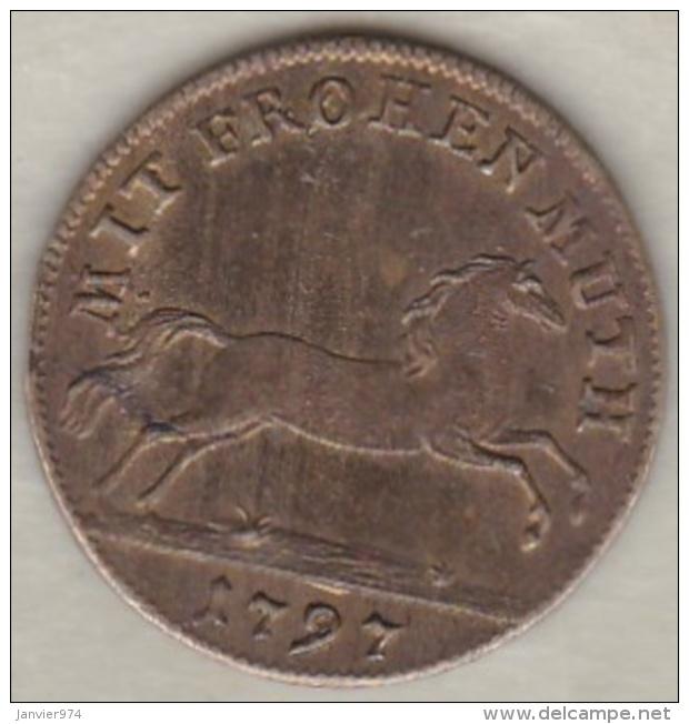 BRUNSWICK-LUNEBURG-CALENBERG Jeton MIT FROHEN MUTH 1797 - Allemagne