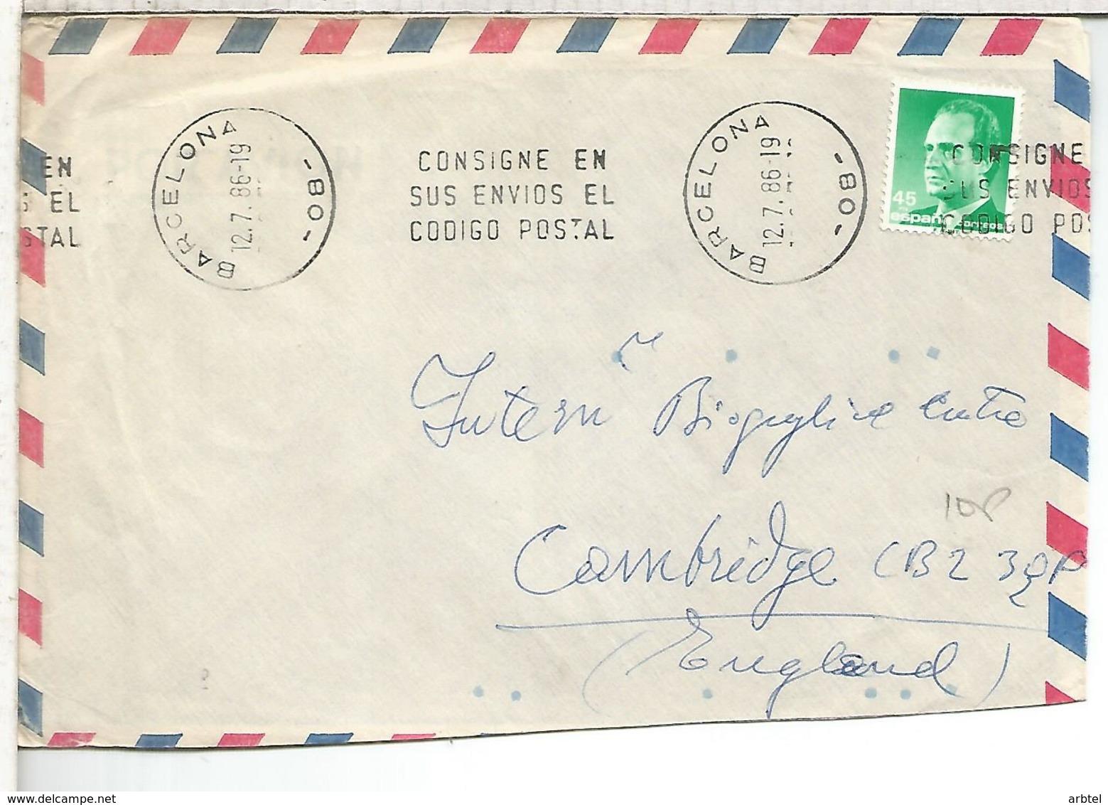 BARCELONA CC SELLOS BASICA JUAN CARLOS - 1931-Hoy: 2ª República - ... Juan Carlos I