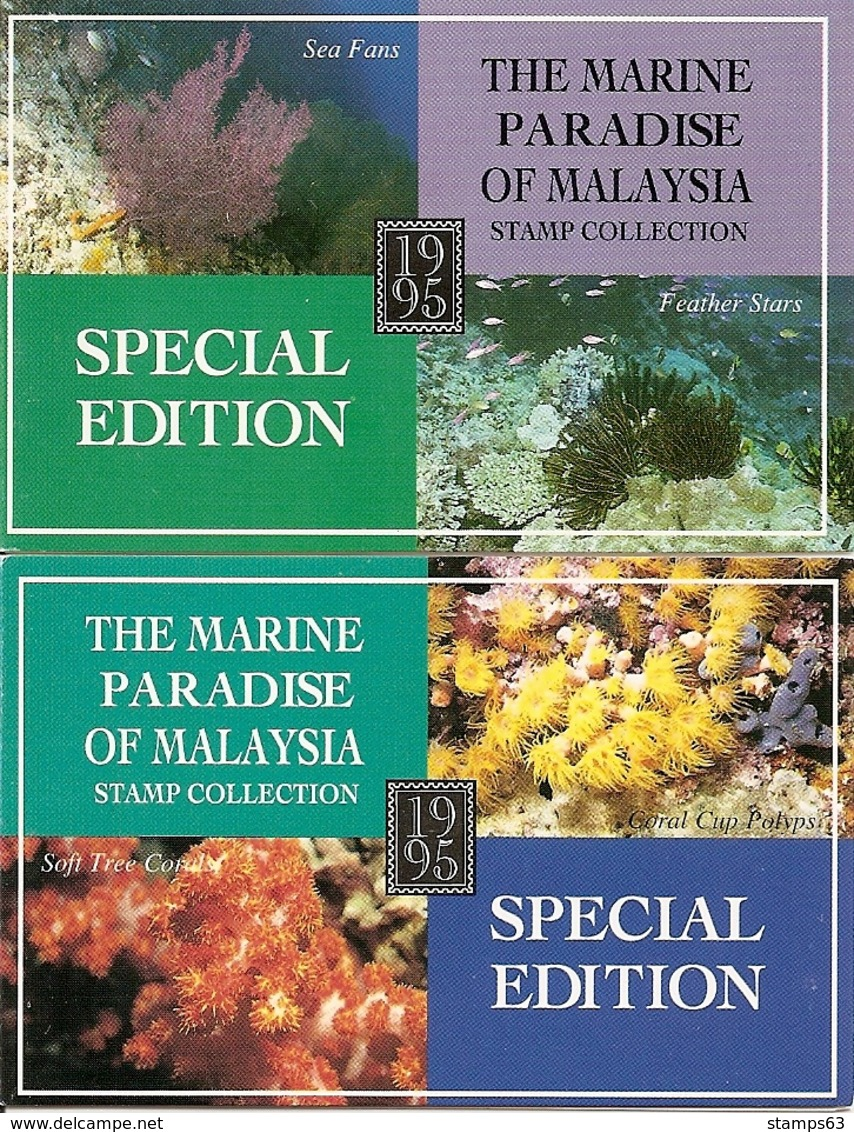 MALAYSIA (NATIONAL), 1995, Booklet SB 1/2, Marine Paradice (corals) - Maleisië (1964-...)