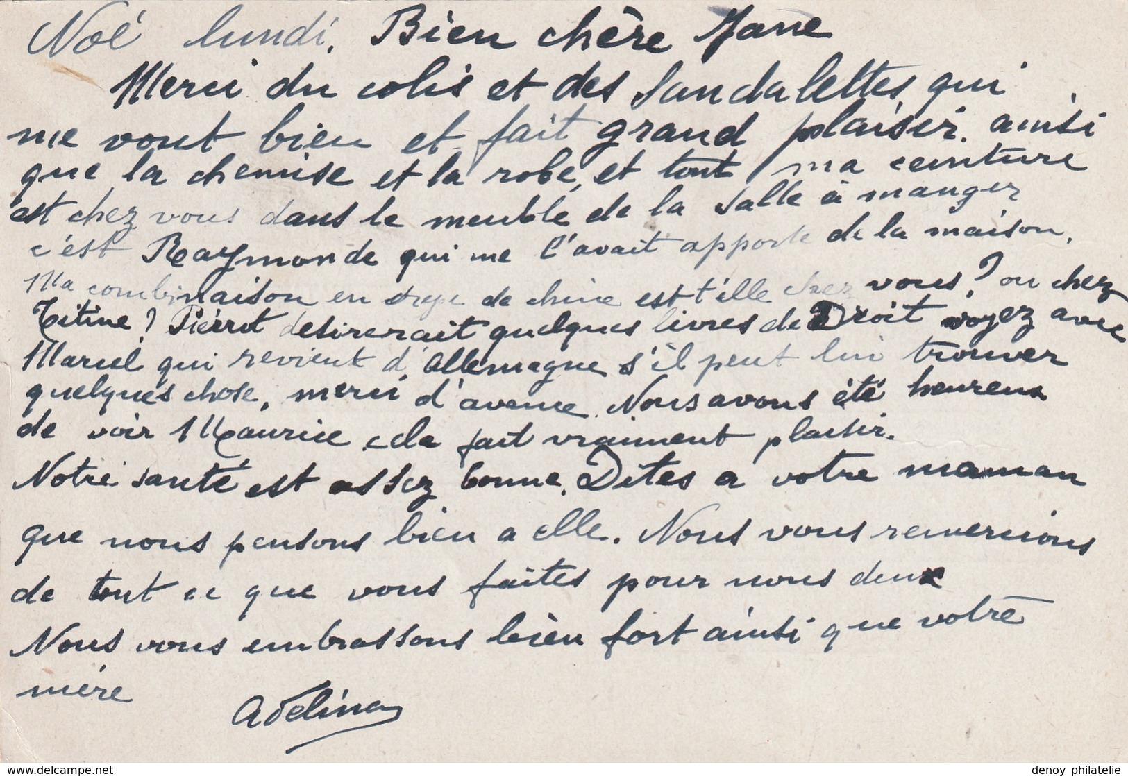 France Entier Postal Iris Daté Du 23 05 1945 Avec Cachet De Controle Du Camp De Noé (concentration ) N° 3 RRR - Poststempel (Briefe)