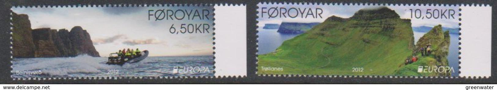 Europa Cept 2012 Faroe Islands  2v  ** Mnh (39278H) - Europa-CEPT