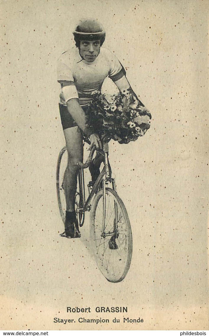 CYCLISME ROBERT GRASSIN  Stayer  Champion Du Monde ( ARGENTEUIL ) - Cyclisme