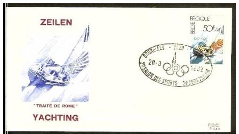 1982 - Belgium - FDC Mi. 2094 - Sport - Zeilen - 2e Sportsalon [NL349_08] - FDC