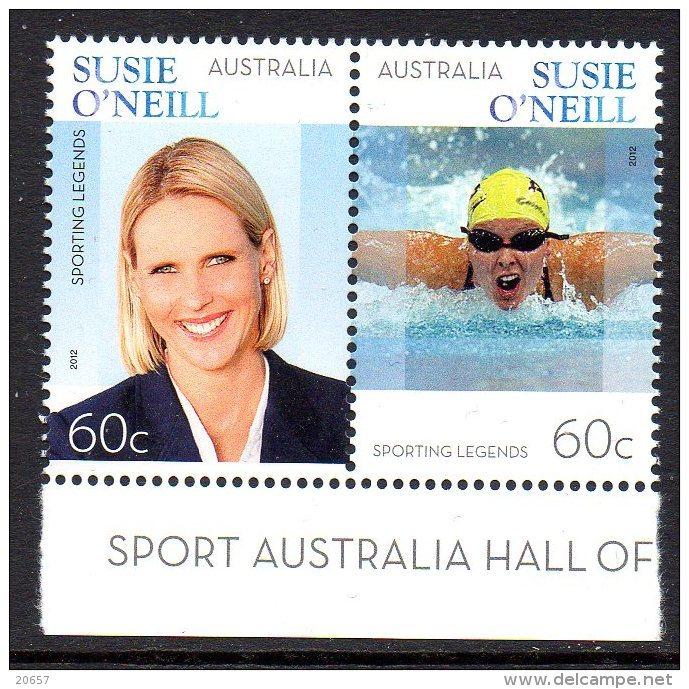 Australie Australia 3693/94 Championne De Natation - Briefmarken