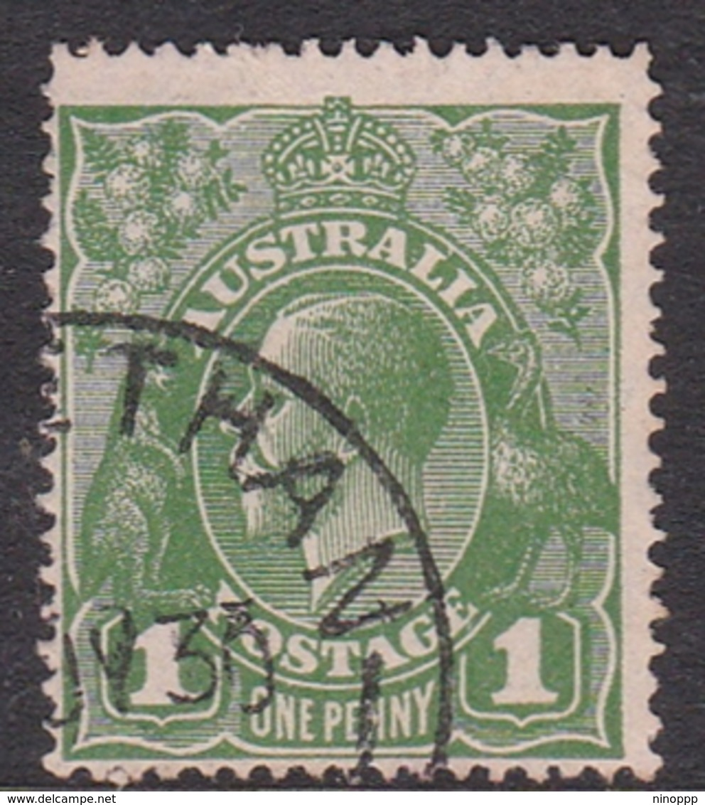 Australia SG 86 1926 King George V,1d Green,Small Multiple Watermark Perf 14, Used - 1913-36 George V: Heads