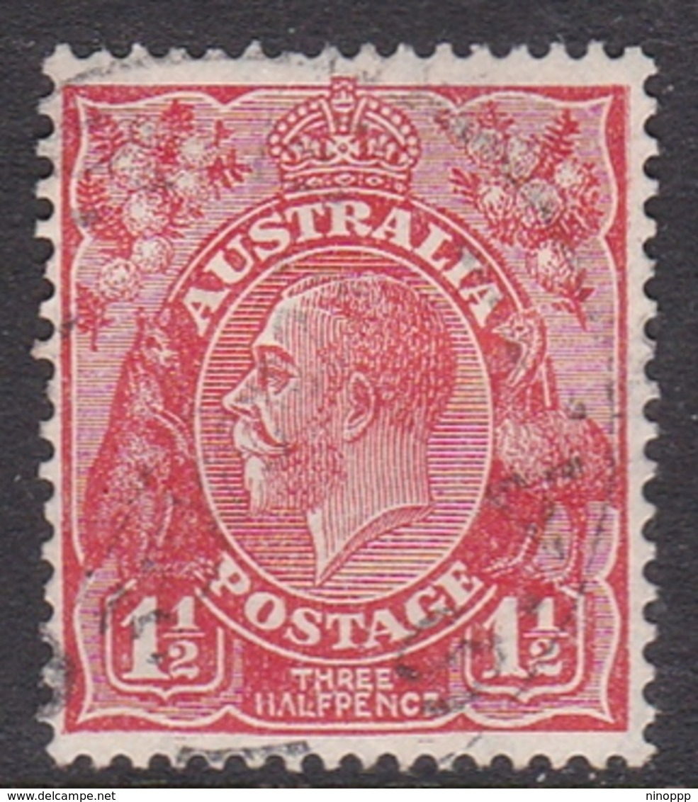 Australia SG 96 1927 King George V,1.5 D Scarlet,Small Multiple Watermark Perf 13.5 X 12.5, Used - 1913-36 George V: Heads