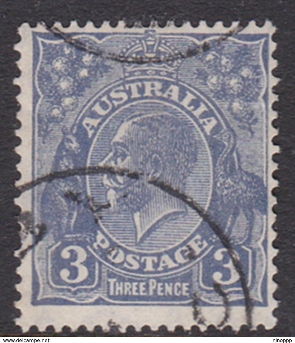 Australia SG 100a 1929 King George V,3d Deep Ultramarinet,Small Multiple Watermark Perf 13.5 X 12.5, Used - 1913-36 George V: Heads