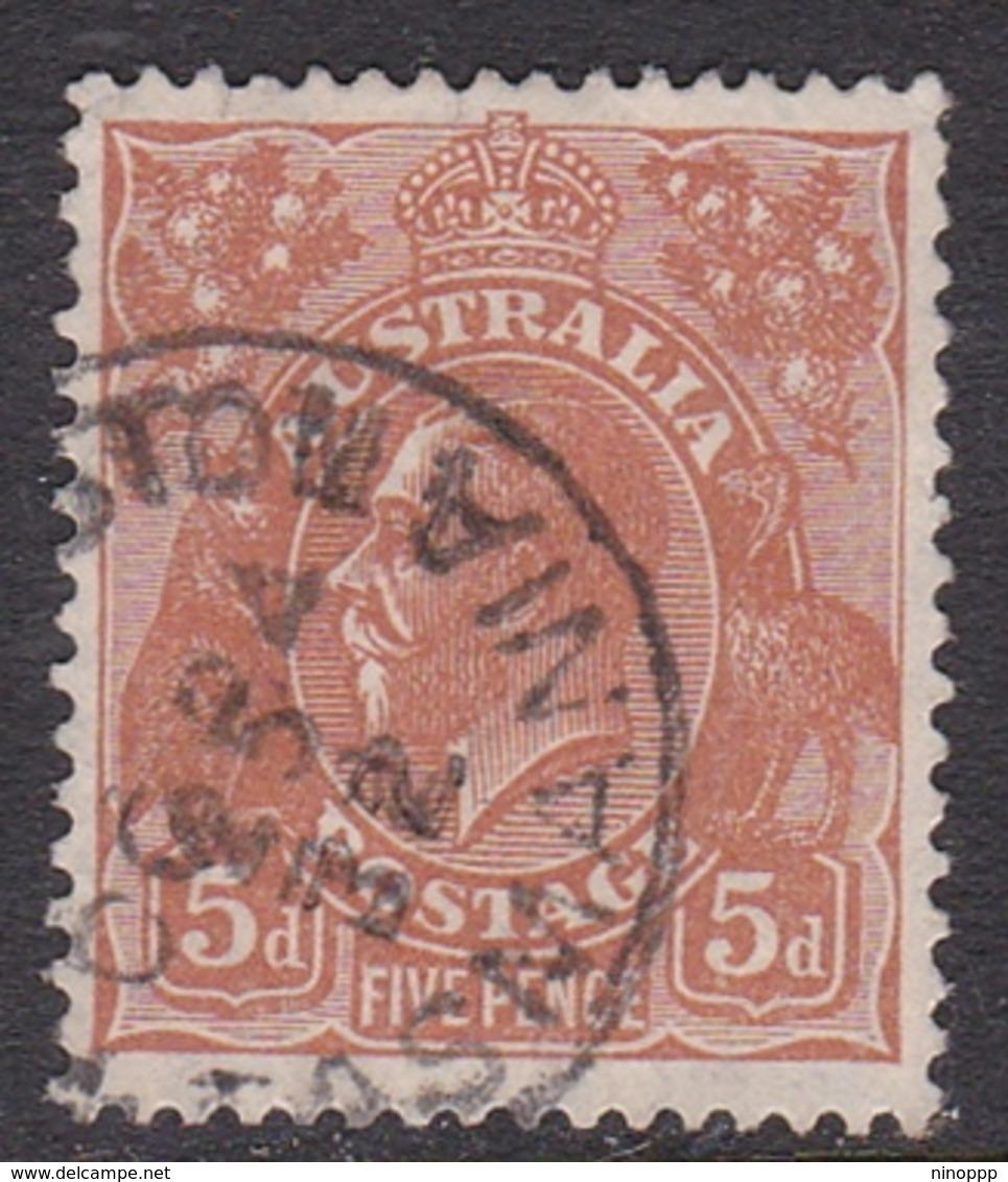 Australia SG 103a 1930 King George V,5d Orange-brown,Small Multiple Watermark Perf 13.5 X 12.5, Used - 1913-36 George V: Heads