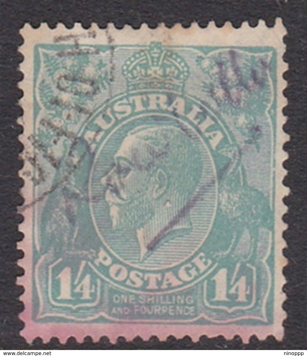 Australia SG 104 1928 King George V,1sh And 4d,Small Multiple Watermark Perf 13.5.12.5, Used - 1913-36 George V: Heads