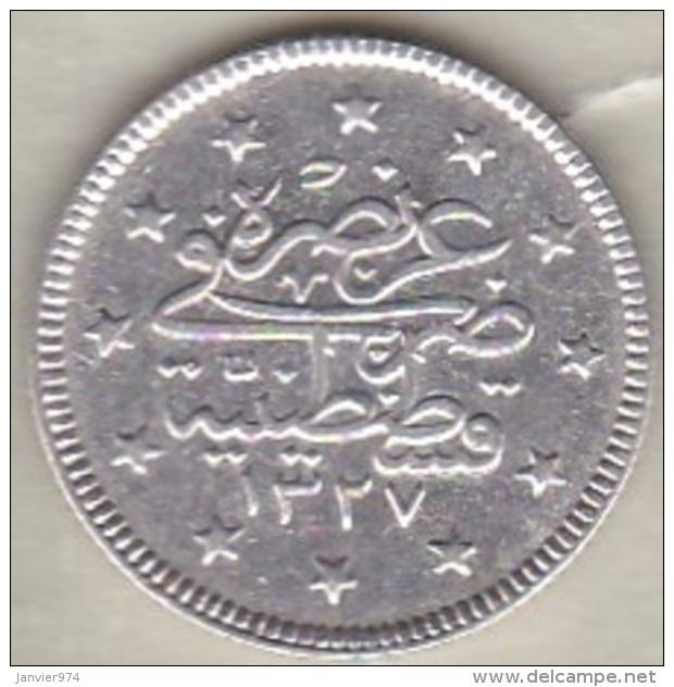 Turquie , 2 Kurush AH 1327 Year 3 Muhammad V, En Argent ,KM# 749 - Turquie