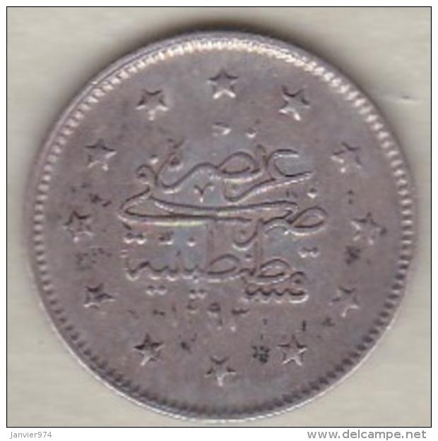 Turquie , 2 Kurush AH 1293 Year 32 Abdul Hamid II, En Argent ,KM# 736 - Turquie