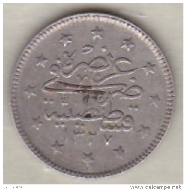 Turquie , 2 Kurush AH 1327 Year 6  Muhammad V, En Argent ,KM# 749 - Turquie