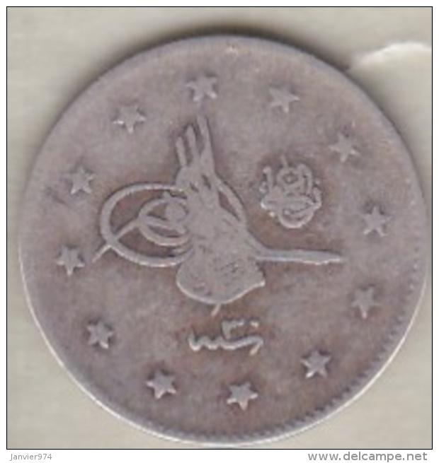 Turquie , 2 Kurush AH 1293 Year 30 Abdul Hamid II, En Argent ,KM# 736 - Turquie